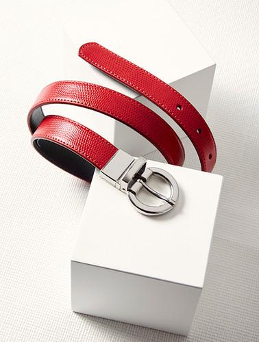 Ladies Leather Reversible Belt