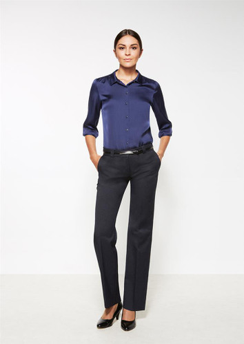 Ladies Hipster Fit Cool Stretch Plain Pant