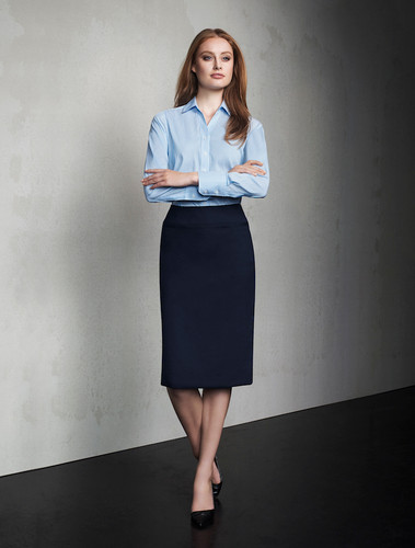 Ladies Relaxed Fit Wool Blend Lined Skirt