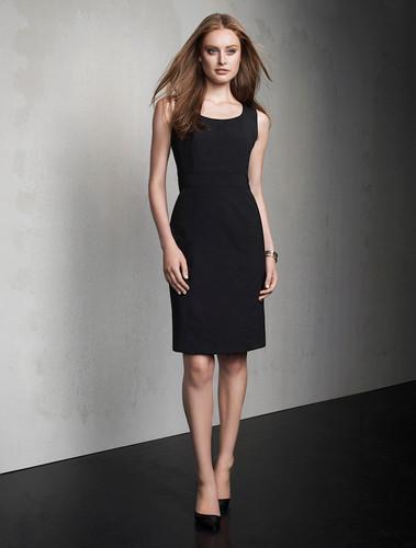 Sleeveless Side Zip Wool Blend Dress
