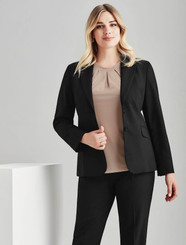 Longerline Wool Blend Jacket