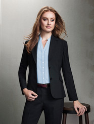 Short-Mid Length Wool Blend Jacket