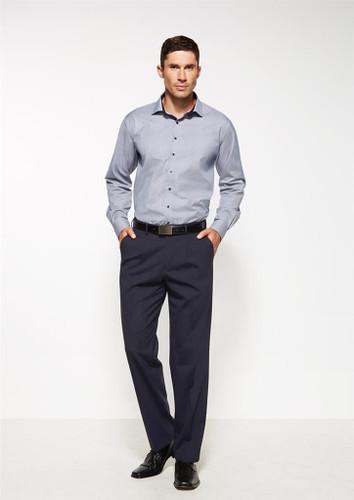 Mens One Pleat Wool Blend Trouser