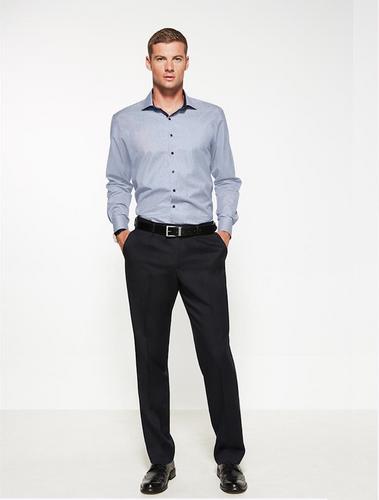 Mens One Pleat Cool Stretch Plain Trouser