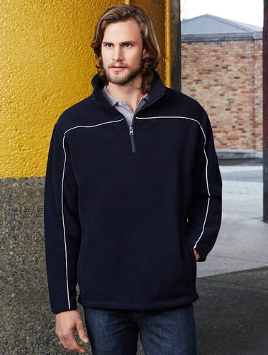 Biz Collection Core Mens 1/2 Zip MicroFleece