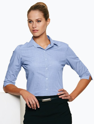 Ladies Navy/White Toorak Shirt
