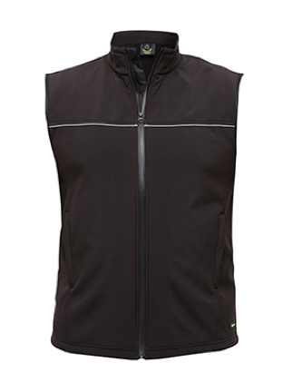 Black Mens Soft Shell Vest