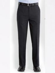 Paul Mason Mens Wool Blend Flexi-Waist Trousers