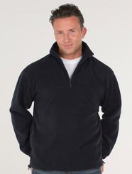 JB's Wear Mens 1/2 Zip Polar Fleece Jumper