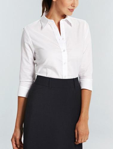 Gloweave Ladies Wrinkle Free Oxford 3/4 Sleeve Shirt