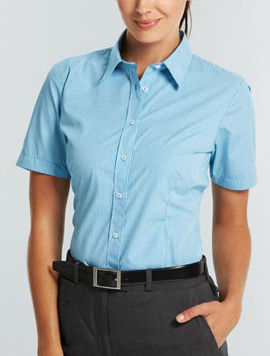 Gloweave Ladies Gingham Check S/S Shirt
