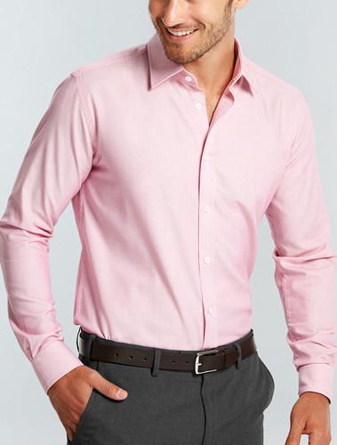 Gloweave Mens L/S Micro Brick Textured Plain Shirt