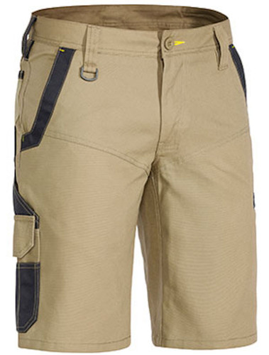 Bisley Flex & Move™ Stretch Khaki Shorts