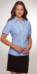 Shadow Stripe Blue Cap Sleeve Shirt