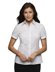 City Collection City Stretch Retro Stripe Cap Sleeve Shirt