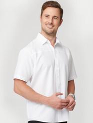 City Collection Mens White Ezylin Short Sleeved Shirt