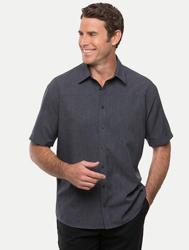 City Collection Mens Charcoal Ezylin Short Sleeved Shirt