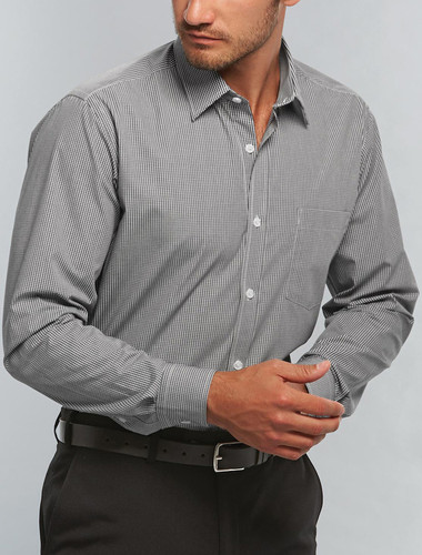 Gloweave Wrinkle Free Mens L/S Gingham Check Shirt