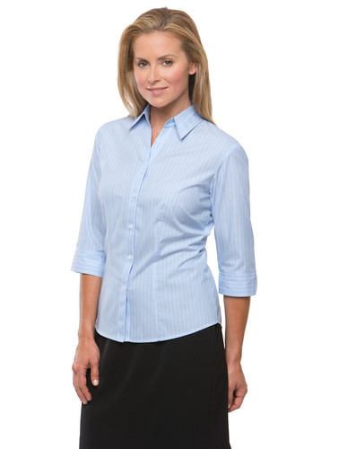 Blue Shadow Stripe 3/4 Sleeve Shirt