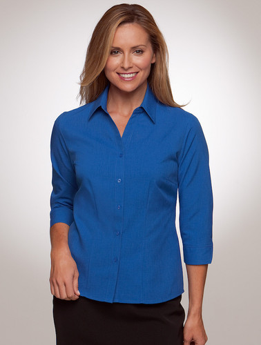 Ezylin 3/4 Sleeve Shirt Royal
