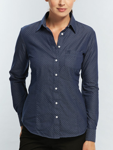 Gloweave Womens Polka Dot Denim Shirt