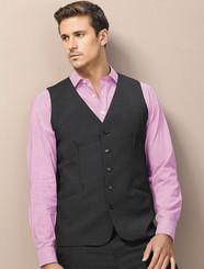 Mens Wool Blend Longline Vest