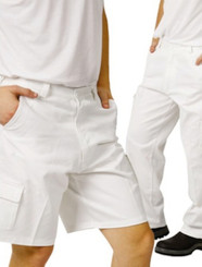 White Drill Painters Shorts