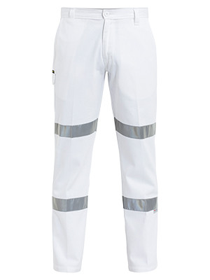 3M Taped Cotton Drill White Work Pant