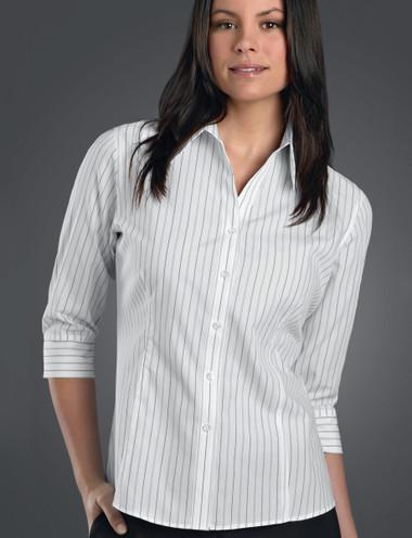 John Kevin Women's 3/4 Sleeve Classic Stripe