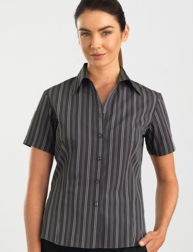 John Kevin Women's Short Sleeve Multi Stripe