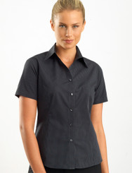 John Kevin Women's Short Sleeve Dark Stripe
