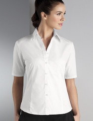 John Kevin Women's Short Sleeve Oxford