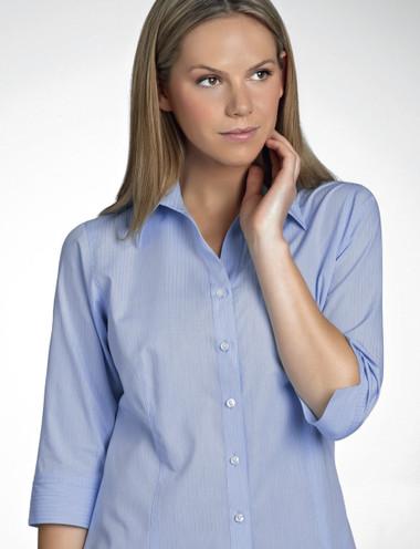 John Kevin Women's 3/4 Sleeve Soft Stripe