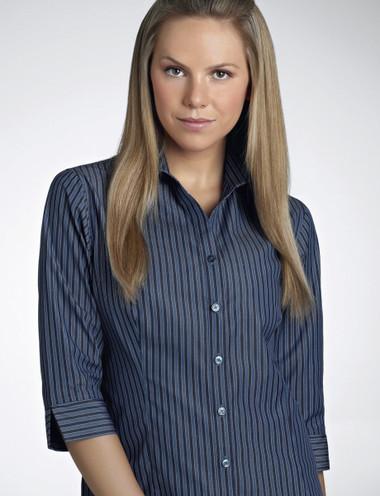 John Kevin Women's 3/4 Sleeve Bold Stripe