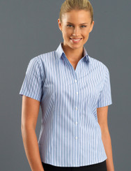 John Kevin Women's Short Sleeve Fashion Stripe