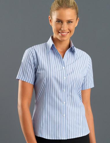 John Kevin Women's Short Sleeve Fashion Stripe