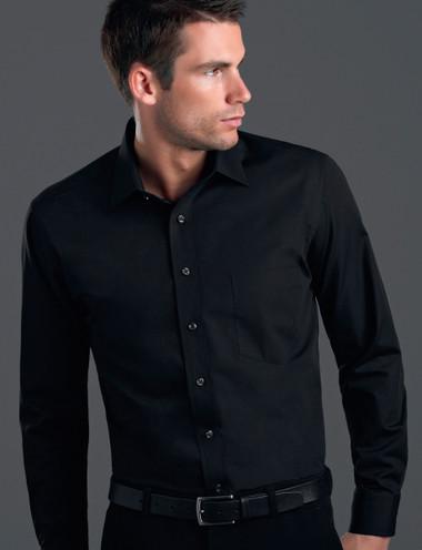 John Kevin Mens Long Sleeve Poplin Shirt
