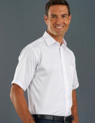 John Kevin Mens Short Sleeve Poplin Shirt