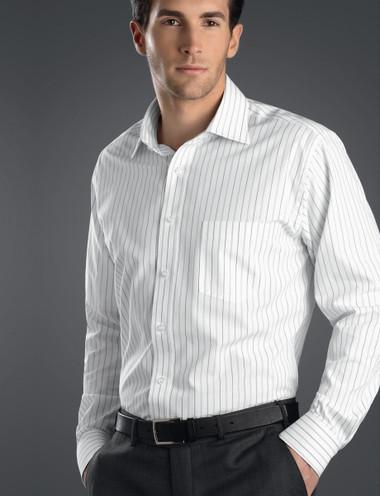 John Kevin Mens Long Sleeve Classic Stripe