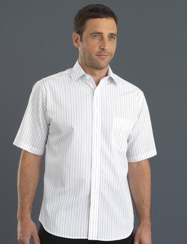 John Kevin Mens Short Sleeve Classic Stripe