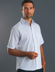 John Kevin Mens Short Sleeve 3 Way Stripe