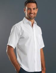 John Kevin Mens Short Sleeve Window Check Shirt