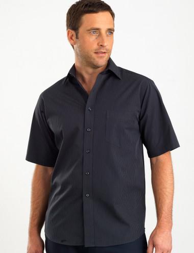 John Kevin Mens Short Sleeve Dark Stripe Shirt
