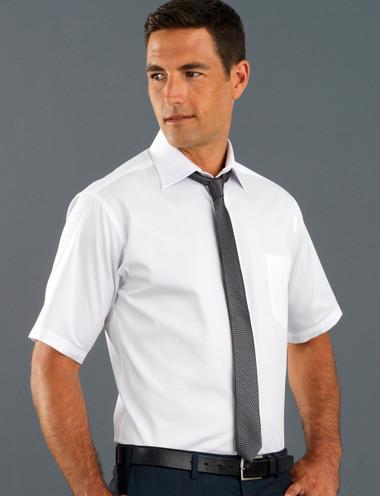 John Kevin Mens Short Sleeve Oxford Shirt