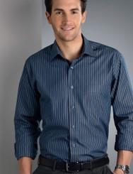 John Kevin Mens Long Sleeve Bold Stripe Shirt