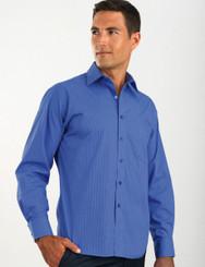 John Kevin Mens Long Sleeve Tonal Stripe Shirt