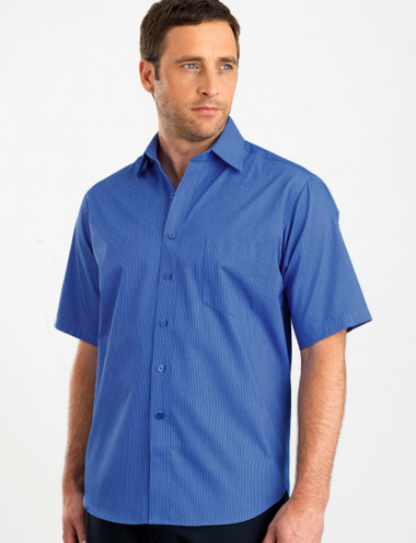 John Kevin Mens Short Sleeve Tonal Stripe Shirt
