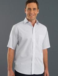 John Kevin Mens Short Sleeve Mini Check Shirt