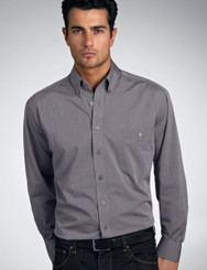 John Kevin Mens Long Sleeve Chambray Shirt