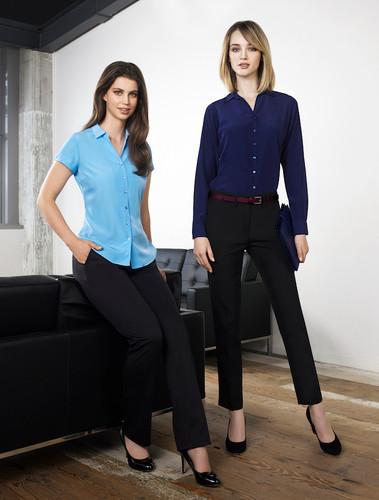 Solanda Ladies Plain Short Sleeve Shirt